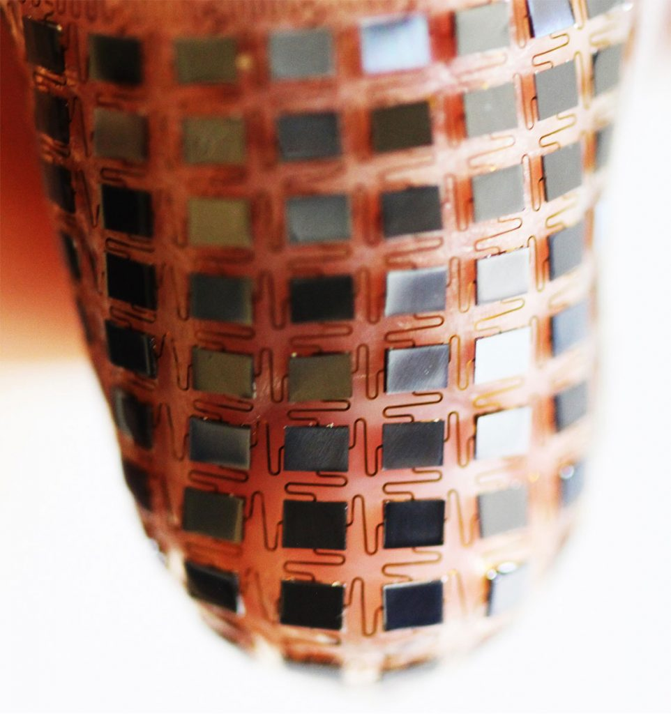 Northwestern University in the US created a flexible battery that could be attached to the skin like a band aid.