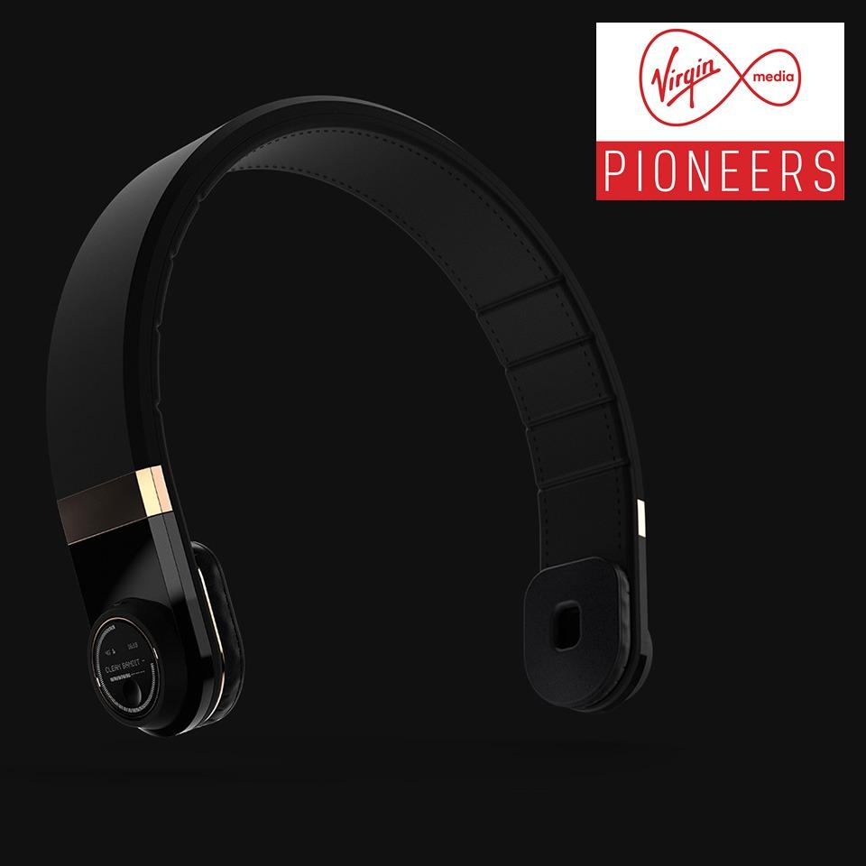 Audio Wings smart headphones 3d printed prototype